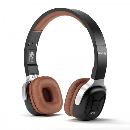Higoing On Ear Bluetooth Stereo Headphones Wireless Wired With Mic Nb 9 Brown Higoingdirect